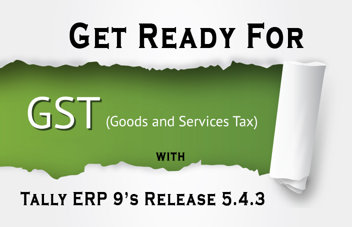 GST and Tally erp9's 5.4.3